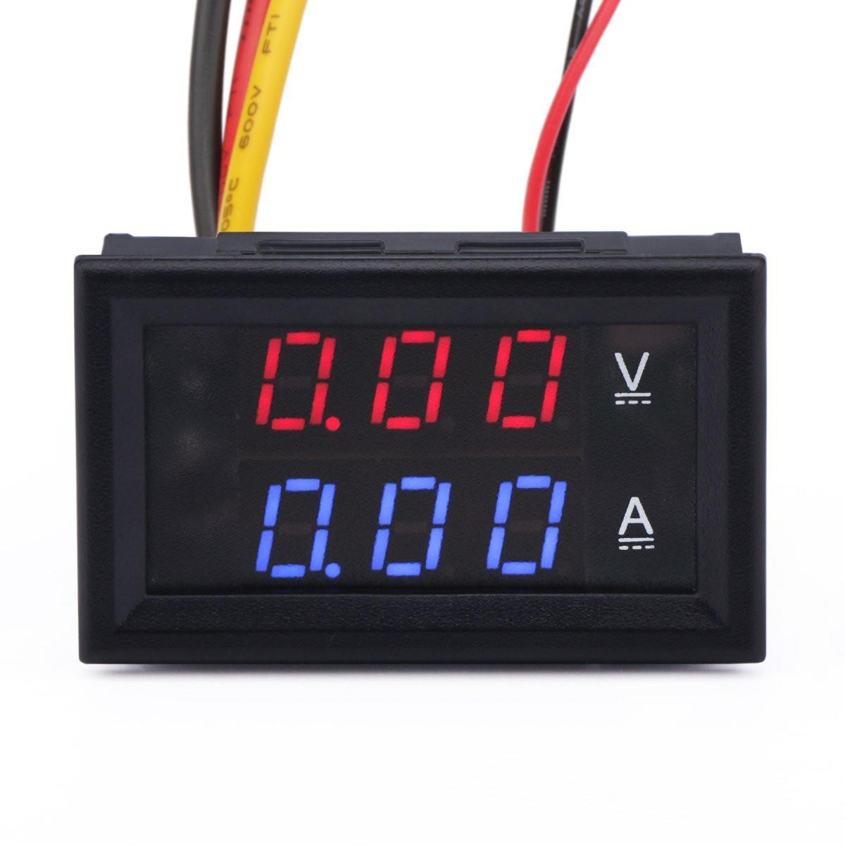 DC0~100V 10A voltage current meter with 0.28