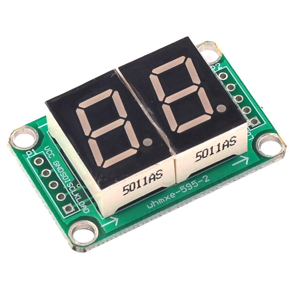 74HC595 Static Drive 2 Segment Digital Tube Display Module
