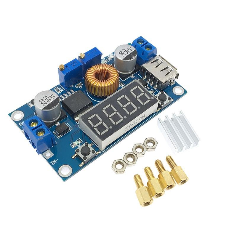 DC-DC XL4015 5A Digital LED Drive Step Down Buck Converter With Voltmeter Ammeter