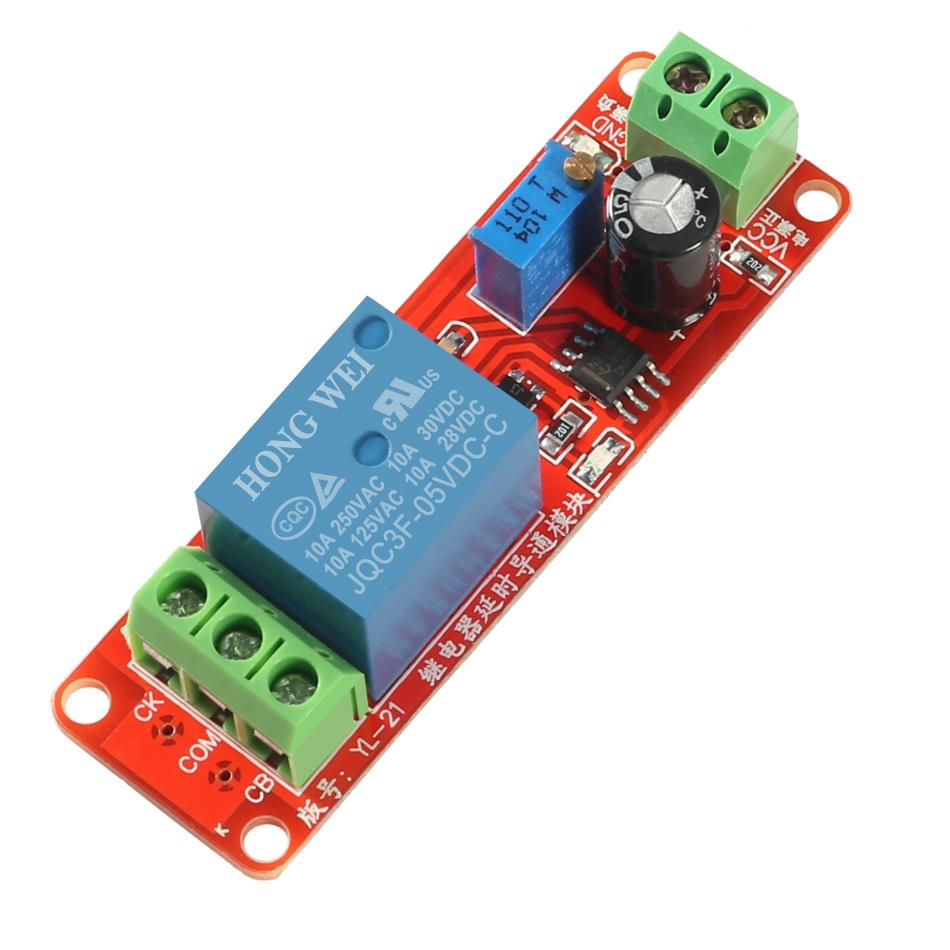 NE555 0~10S Adjustable Module DC5V Delay Relay Shield Timer Switch
