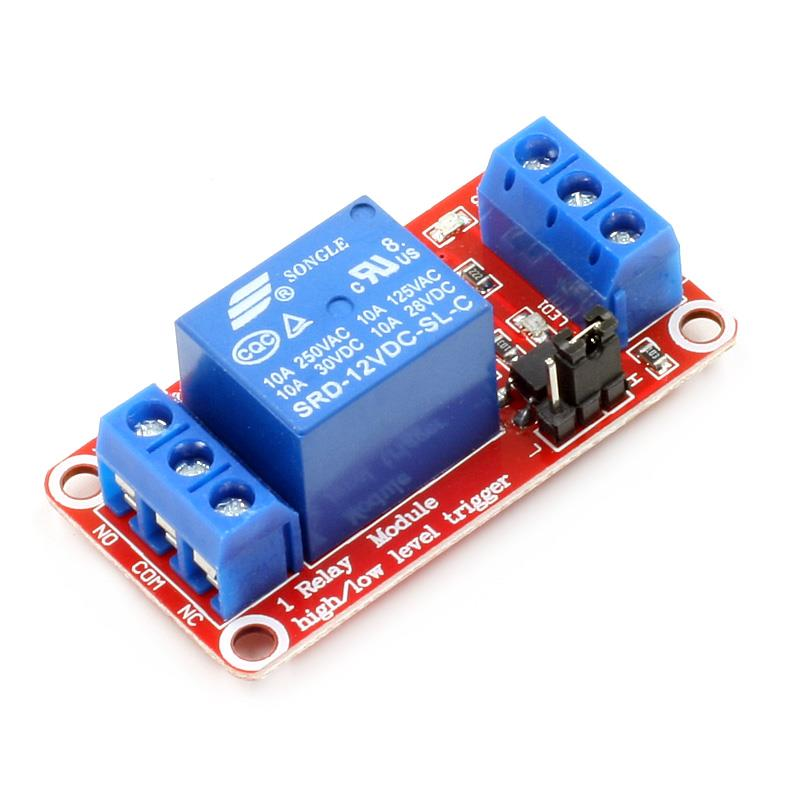 1 Channel 12V Relay Module With optocoupler Support High/Low Level Trigger
